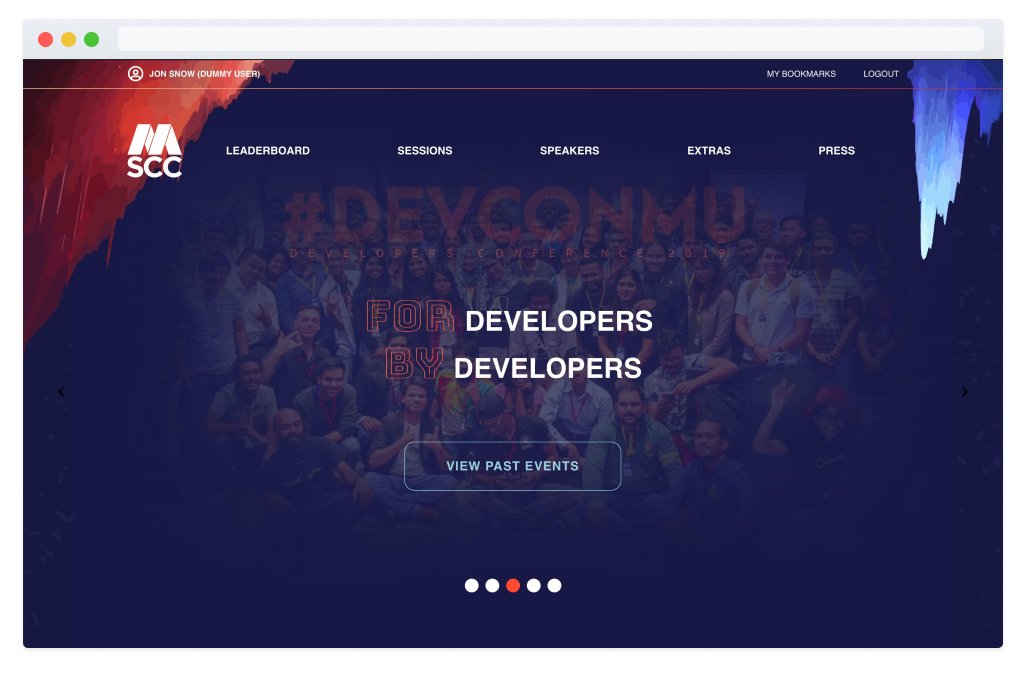 Developers Conference 2019 Website